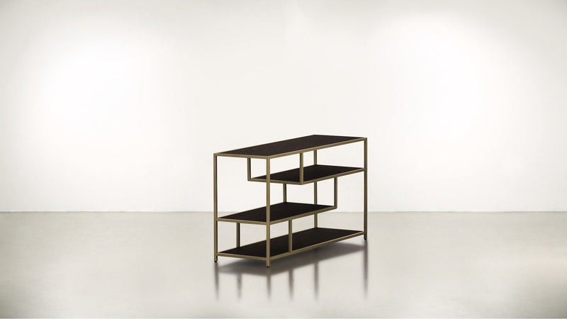 The Strategist Side Table Side Table Chocolate / Brass Whom. Home
