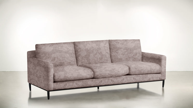 The Tastemaker Sofa 7' Sofa Crushed Micro-Chenille Blush / Black Whom. Home