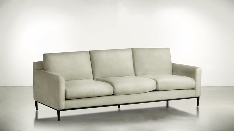 The Tastemaker Sofa 7' Sofa Structured Velvet Divine / Black Whom. Home