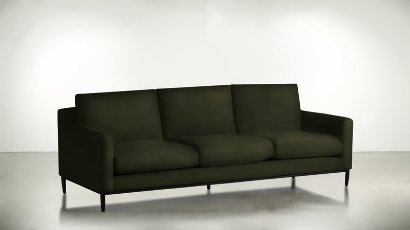 The Tastemaker Sofa 7' Sofa Structured Velvet Malachite / Black Whom. Home