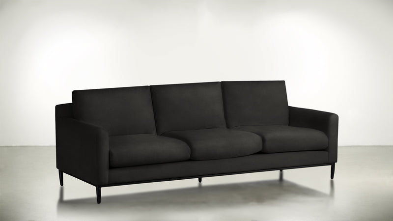 The Tastemaker Sofa 7' Sofa Structured Velvet Sterling / Black Whom. Home