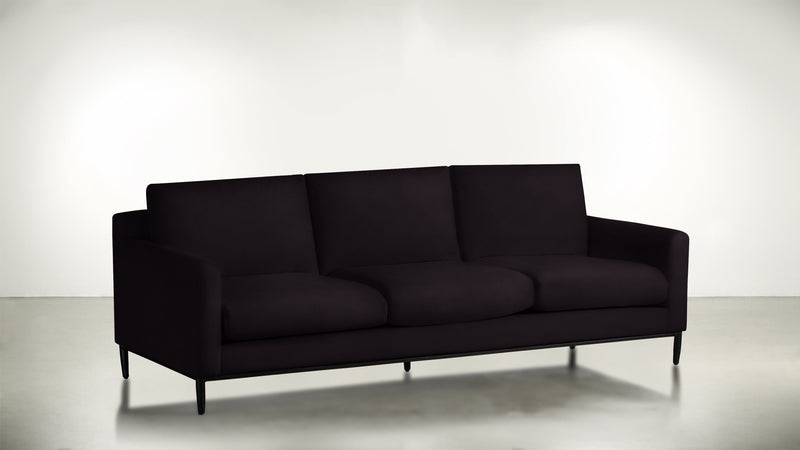 The Tastemaker Sofa 7' Sofa Structured Velvet Vineyard / Black Whom. Home
