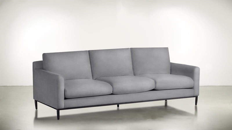 The Tastemaker Sofa 7' Sofa Velvet Knit Dove / Black Whom. Home