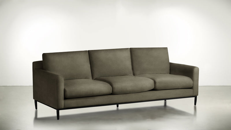 The Tastemaker Sofa 7' Sofa Velvet Knit Mondo / Black Whom. Home