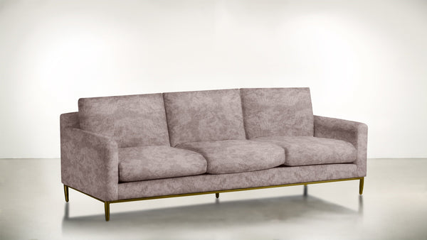 The Tastemaker Sofa 7' Sofa Crushed Micro-Chenille Blush / Brass Whom. Home