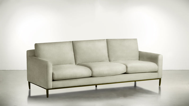The Tastemaker Sofa 7' Sofa Structured Velvet Divine / Brass Whom. Home