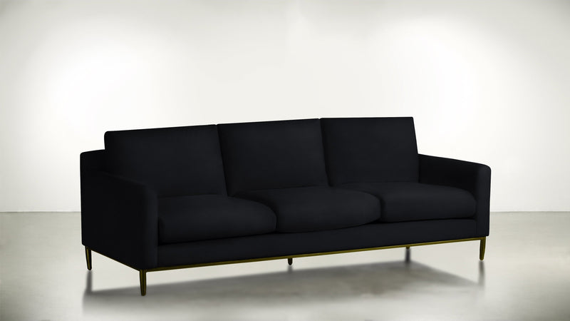 The Tastemaker Sofa 7' Sofa Structured Velvet Eclipse / Brass Whom. Home