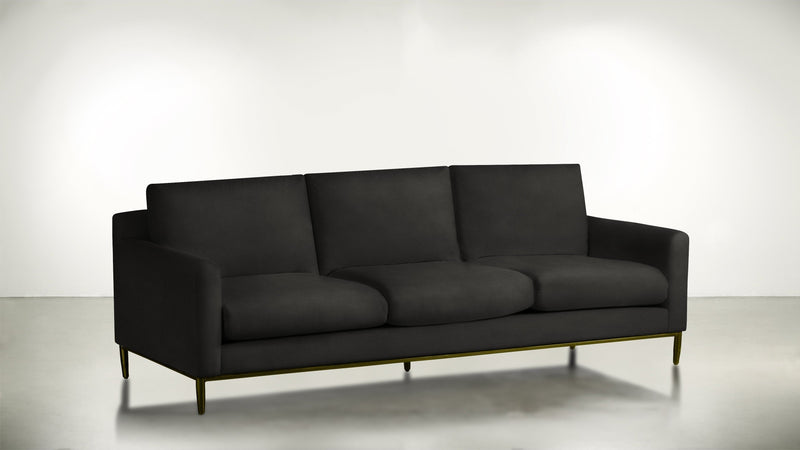 The Tastemaker Sofa 7' Sofa Structured Velvet Sterling / Brass Whom. Home