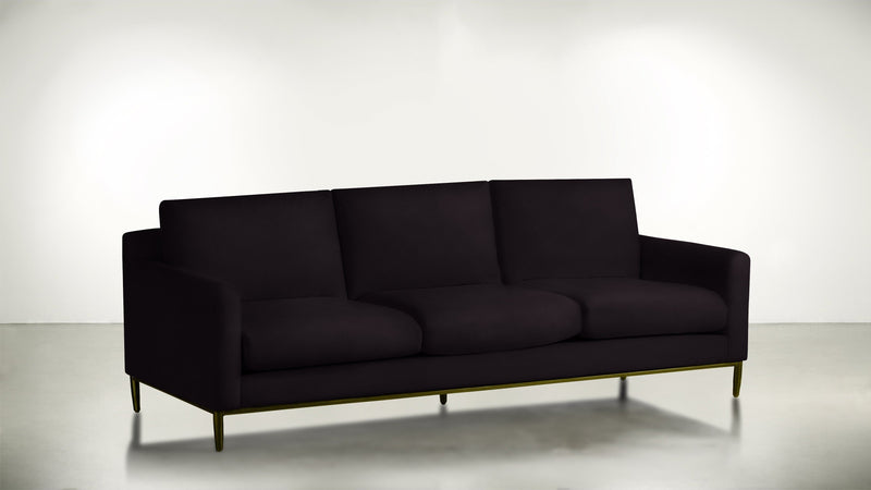The Tastemaker Sofa 7' Sofa Structured Velvet Vineyard / Brass Whom. Home