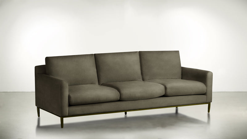 The Tastemaker Sofa 7' Sofa Velvet Knit Mondo / Brass Whom. Home