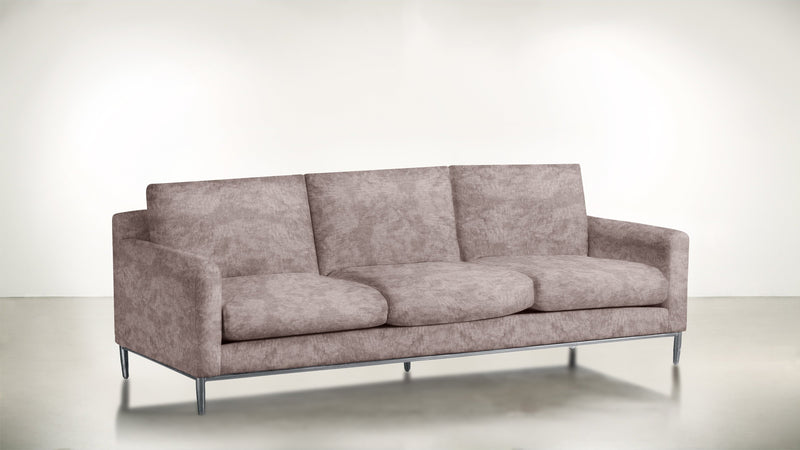 The Tastemaker Sofa 7' Sofa Crushed Micro-Chenille Blush / Silver Whom. Home