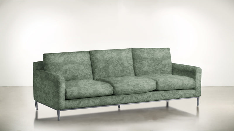 The Tastemaker Sofa 7' Sofa Crushed Micro-Chenille Mint / Silver Whom. Home