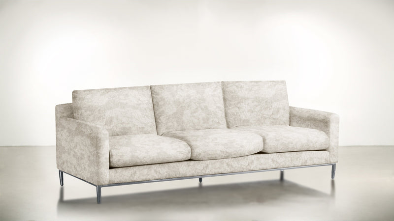 The Tastemaker Sofa 7' Sofa Crushed Micro-Chenille Snow / Silver Whom. Home