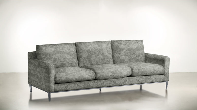 The Tastemaker Sofa 7' Sofa Crushed Micro-Chenille Stone / Silver Whom. Home