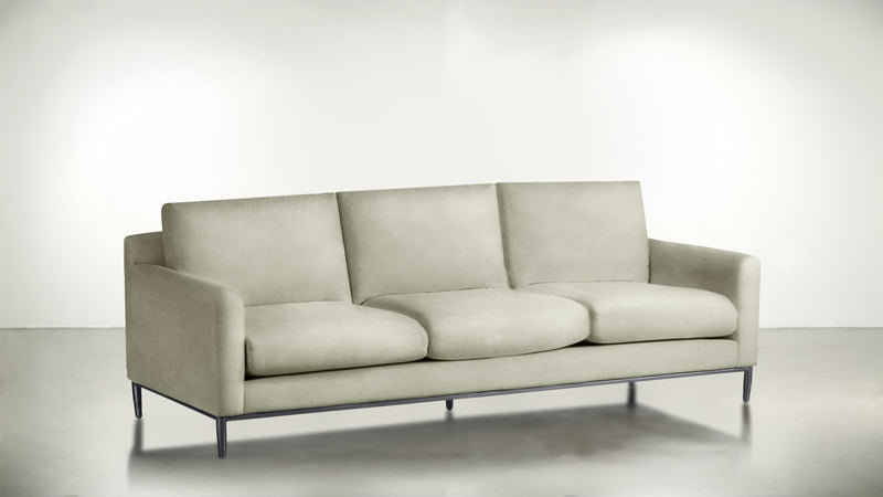The Tastemaker Sofa 7' Sofa Structured Velvet Divine / Silver Whom. Home