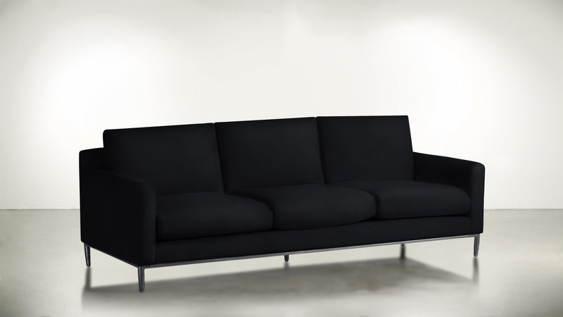The Tastemaker Sofa 7' Sofa Structured Velvet Eclipse / Silver Whom. Home