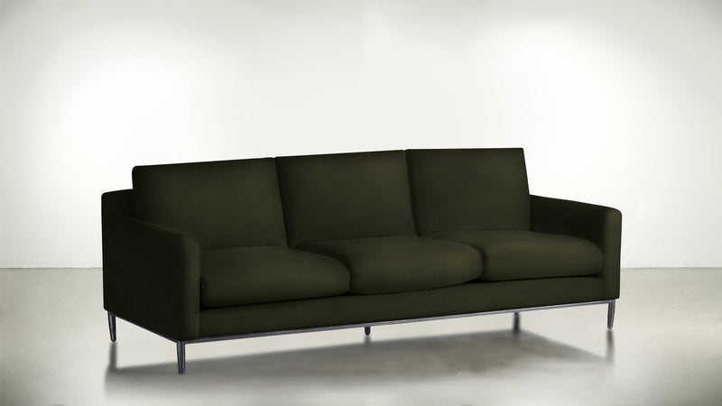 The Tastemaker Sofa 7' Sofa Structured Velvet Malachite / Silver Whom. Home