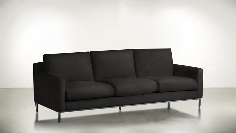 The Tastemaker Sofa 7' Sofa Structured Velvet Sterling / Silver Whom. Home