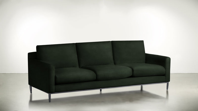The Tastemaker Sofa 7' Sofa Velvet Knit Evergreen / Silver Whom. Home