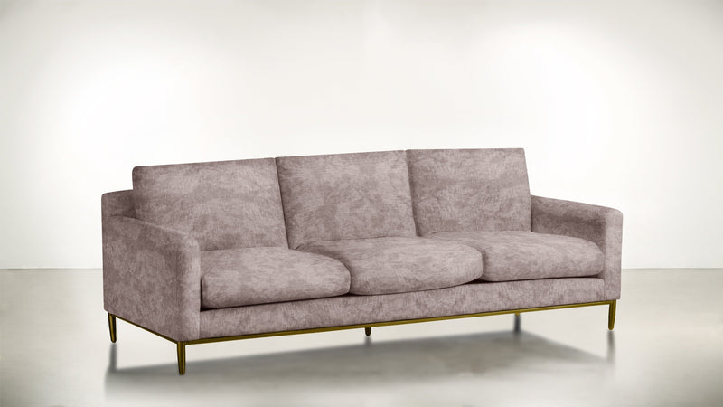 The Tastemaker Sofa 8' Sofa Crushed Micro-Chenille Blush / Brass Whom. Home