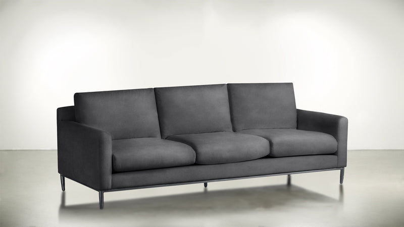 The Tastemaker Sofa 8' Sofa Velvet Knit Ash / Silver Whom. Home