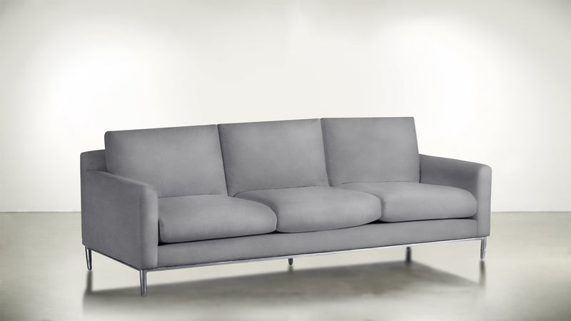 The Tastemaker Sofa 8' Sofa Velvet Knit Dove / Silver Whom. Home
