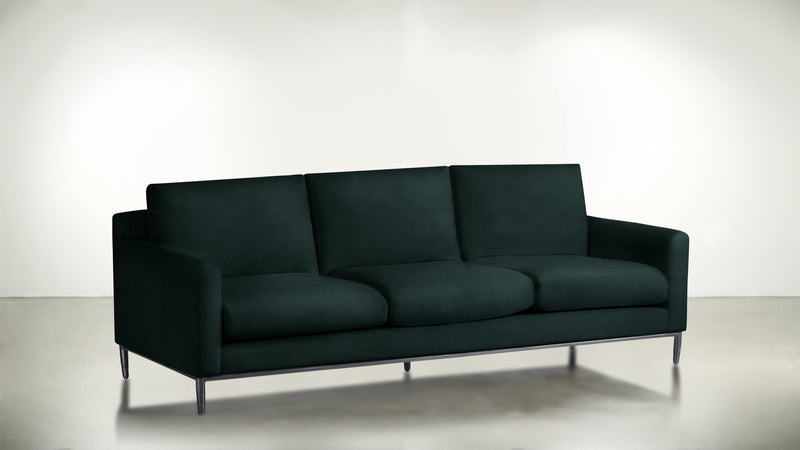 The Tastemaker Sofa 8' Sofa Velvet Knit Peacock / Silver Whom. Home