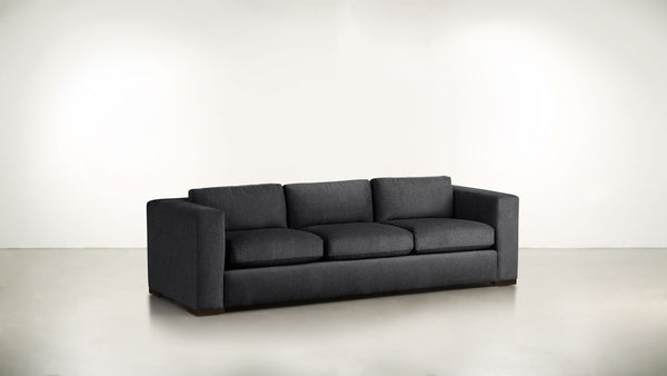 The Stylist Sofa 6' Sofa Classic Linen Weave Navy / Chocolate Whom. Home