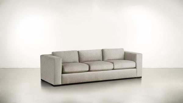 The Stylist Sofa 6' Sofa Classic Linen Weave Oatmeal / Blackw Whom. Home