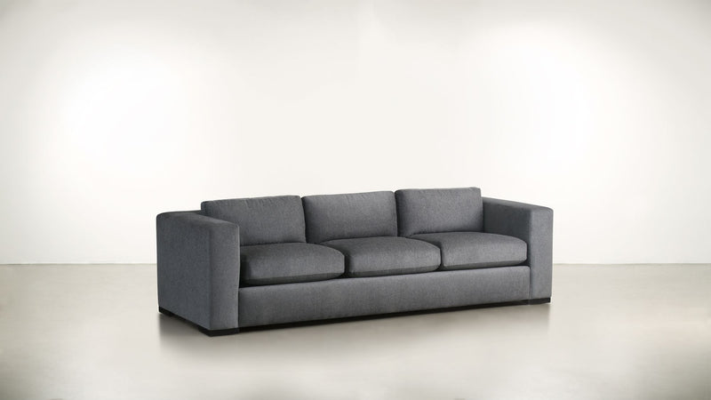 The Stylist Sofa 6' Sofa Classic Linen Weave Smoke / Blackw Whom. Home