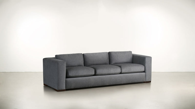 The Stylist Sofa 6' Sofa Classic Linen Weave Smoke / Chocolate Whom. Home