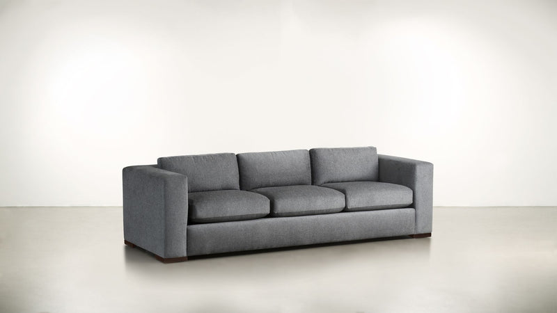 The Stylist Sofa 6' Sofa Structured Linen Weave Steel / Hazel Whom. Home