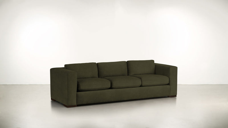 The Stylist Sofa 6' Sofa Structured Velvet Malachite / Chocolate Whom. Home