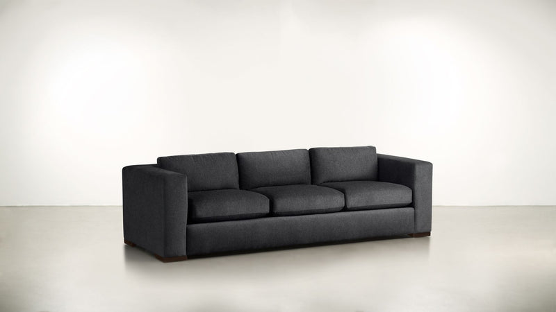 The Stylist Sofa 7' Sofa Classic Linen Weave Navy / Chocolate Whom. Home