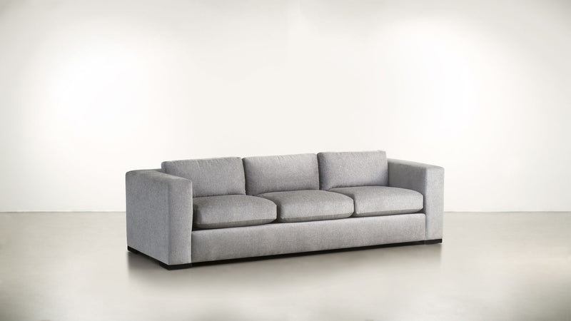 The Stylist Sofa 7' Sofa Structured Linen Weave Dove / Blackw Whom. Home