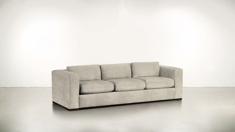 The Stylist Sofa 7' Sofa Structured Velvet Divine / Chocolate Whom. Home