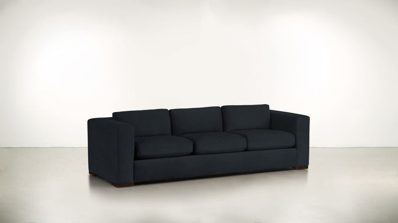 The Stylist Sofa 7' Sofa Structured Velvet Eclipse / Chocolate Whom. Home
