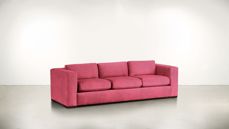 The Stylist Sofa 7' Sofa Structured Velvet Flamingo / Chocolate Whom. Home