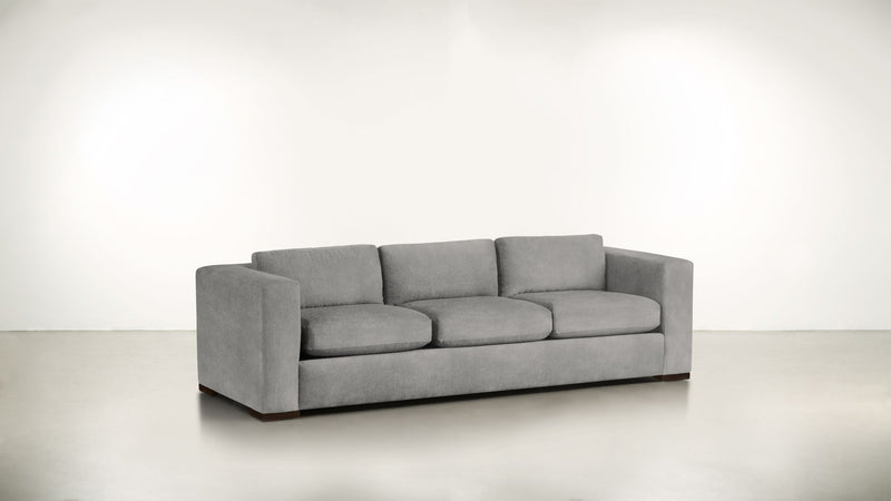 The Stylist Sofa 7' Sofa Structured Velvet Gladiator Gray / Chocolate Whom. Home