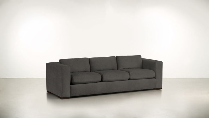 The Stylist Sofa 7' Sofa Structured Velvet Sterling / Chocolate Whom. Home