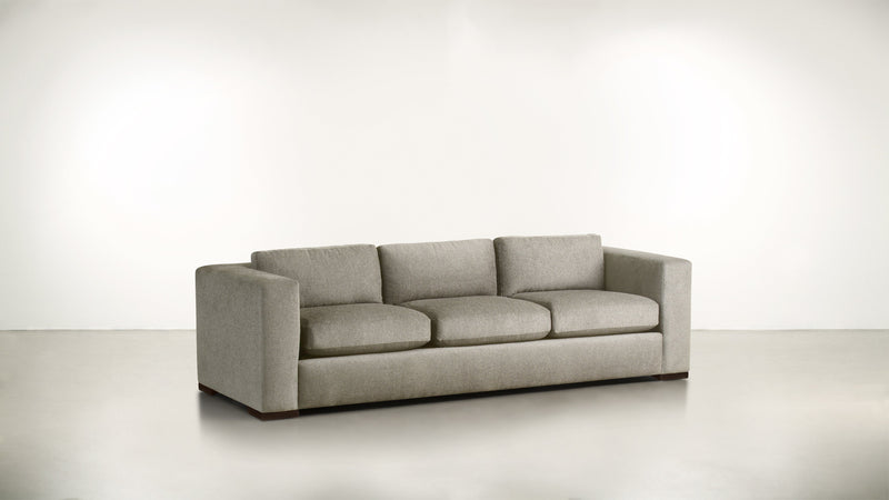 The Stylist Sofa 8' Sofa Classic Linen Weave Almond / Chocolate Whom. Home