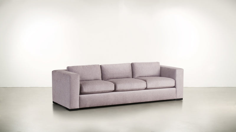 The Stylist Sofa 8' Sofa Classic Linen Weave Blush / Blackw Whom. Home