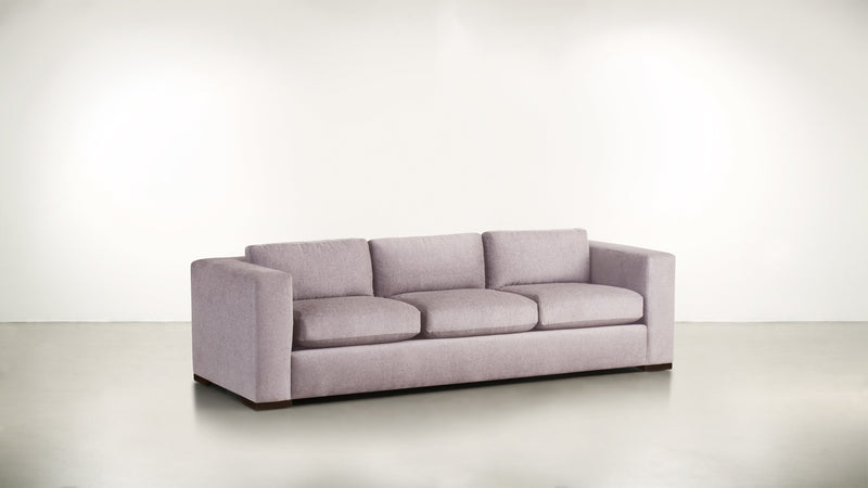 The Stylist Sofa 8' Sofa Classic Linen Weave Blush / Chocolate Whom. Home