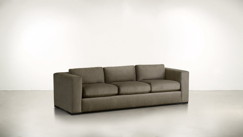 The Stylist Sofa 8' Sofa Classic Linen Weave Mink / Blackw Whom. Home