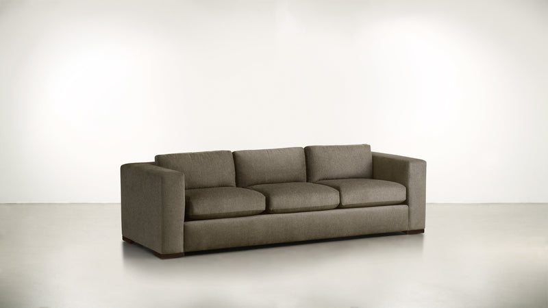 The Stylist Sofa 8' Sofa Classic Linen Weave Mink / Chocolate Whom. Home