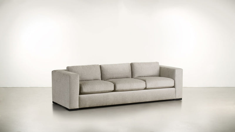 The Stylist Sofa 8' Sofa Classic Linen Weave Oatmeal / Blackw Whom. Home