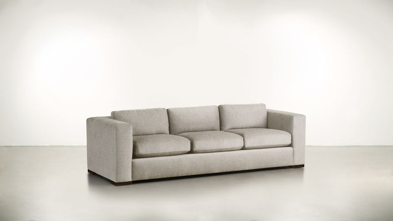 The Stylist Sofa 8' Sofa Classic Linen Weave Oatmeal / Chocolate Whom. Home