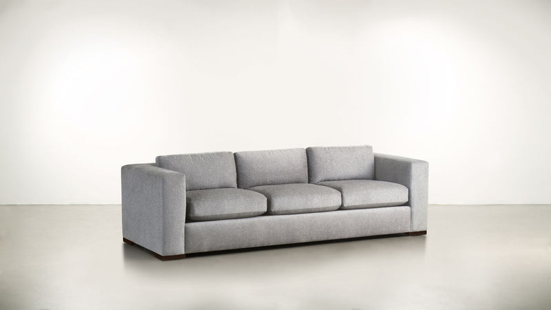 The Stylist Sofa 8' Sofa Structured Linen Weave Dove / Chocolate Whom. Home