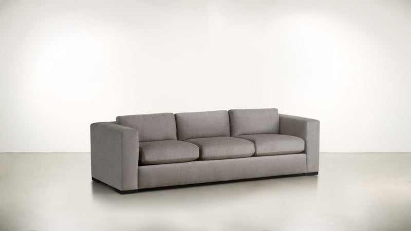 The Stylist Sofa 8' Sofa Structured Linen Weave Sand / Chocolate Whom. Home