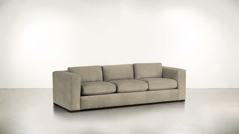 The Stylist Sofa 8' Sofa Structured Velvet Biscotti / Chocolate Whom. Home